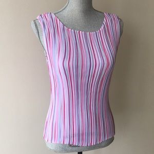 💖MARKS & SPENCER multicolored corrugated Tank Top